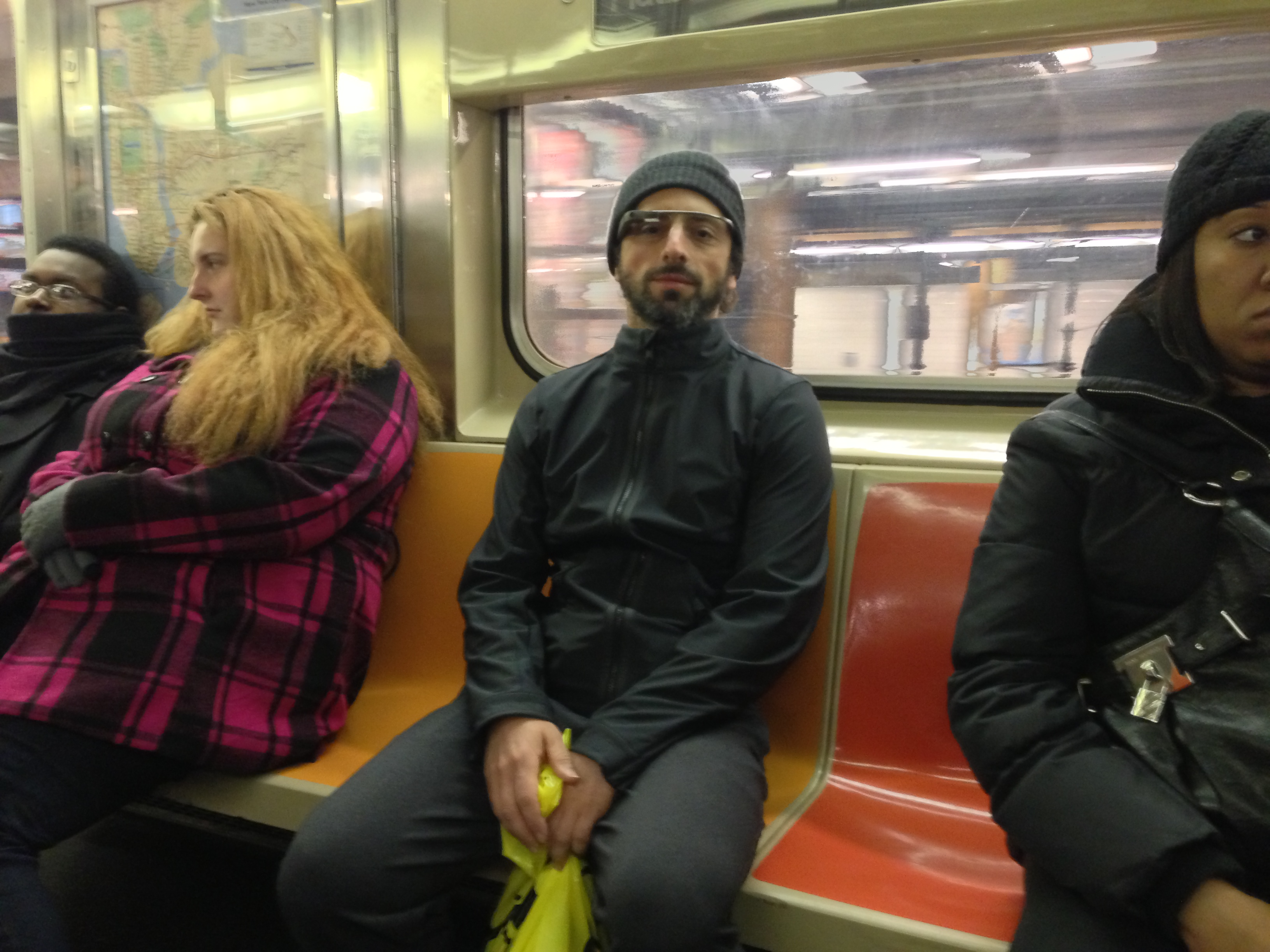 Sergey Brin on the 3 Train